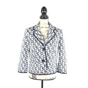 JM Collection Womens Blazer Jacket Black Size 10P